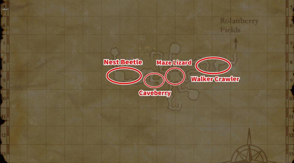 Leveling Map Crawlers' Nest