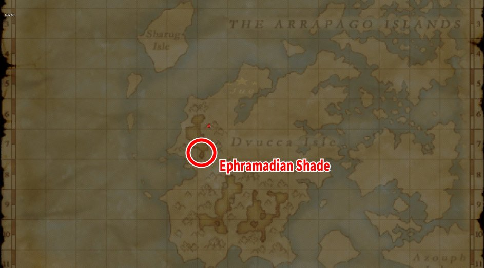 Map of Ephramadian Shade